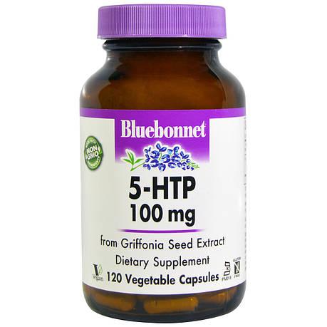 5-HTP (Гидрокситриптофан) 100мг, Bluebonnet Nutrition, 120 капсул, фото 2