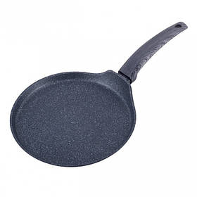 Сковорода млинна 24 см Black marble Kamille KM-4126