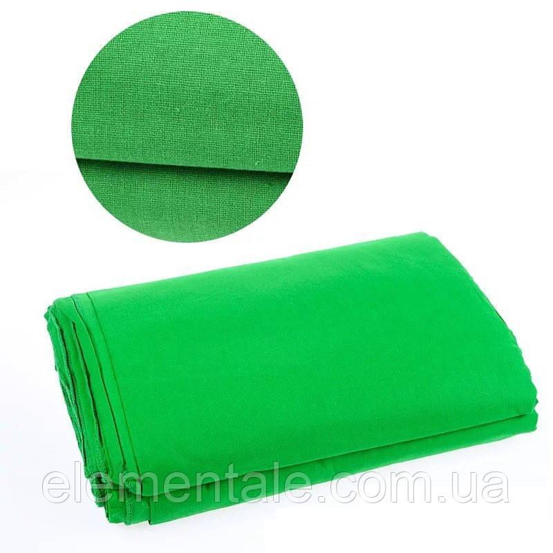 Фон тканевый зеленый для фотостудии 3х2.2 м Chromakey