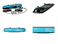 Зеркало-видеорегистратор Vehicle Blackbox DVR Full HD с камерой заднего вида Черный