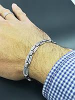 Срібний браслет Меандр
