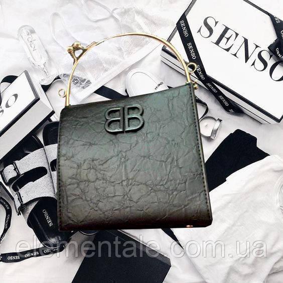 Сумка с металлическими ручками BB Черный