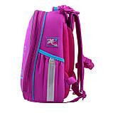 Рюкзак шкільний каркасний YES H-25 Funny Birdies Бордовий, фото 2