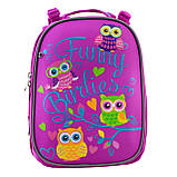 Рюкзак шкільний каркасний YES H-25 Funny Birdies Бордовий, фото 4