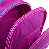 Рюкзак шкільний каркасний YES H-25 Funny Birdies Бордовий, фото 6