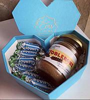 Подарочный набор шоколадная паста тоблерон + баунти
