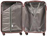 Пластиковый Чемодан маленький на колесах дорожный для путешествий Wings Linnet Бордовый ручная кладь, фото 4