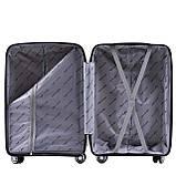 Пластиковий Чемодан середній на колесах для подорожей дорожній Wings MALLARD Червоний, фото 4