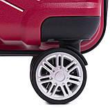 Пластиковий Чемодан середній на колесах для подорожей дорожній Wings MALLARD Червоний, фото 5