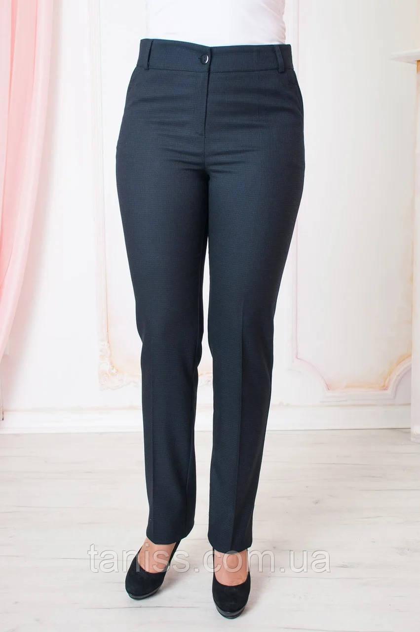 "Женские  брюки ""Жозефина"" , ткань плотный тиар размеры 50,52,54,56,58,60, синий, брюки"
