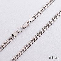 Серебряная цепочка (плетение Рембо)