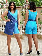 Женский летний комбинезон,летний комбез больших размеров.удобный женский комбинезон с шортами