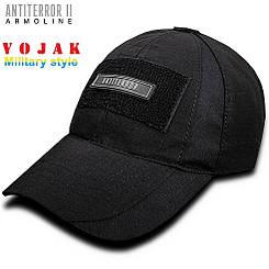 Бейсболка тактическая (ANTITERROR II) Black