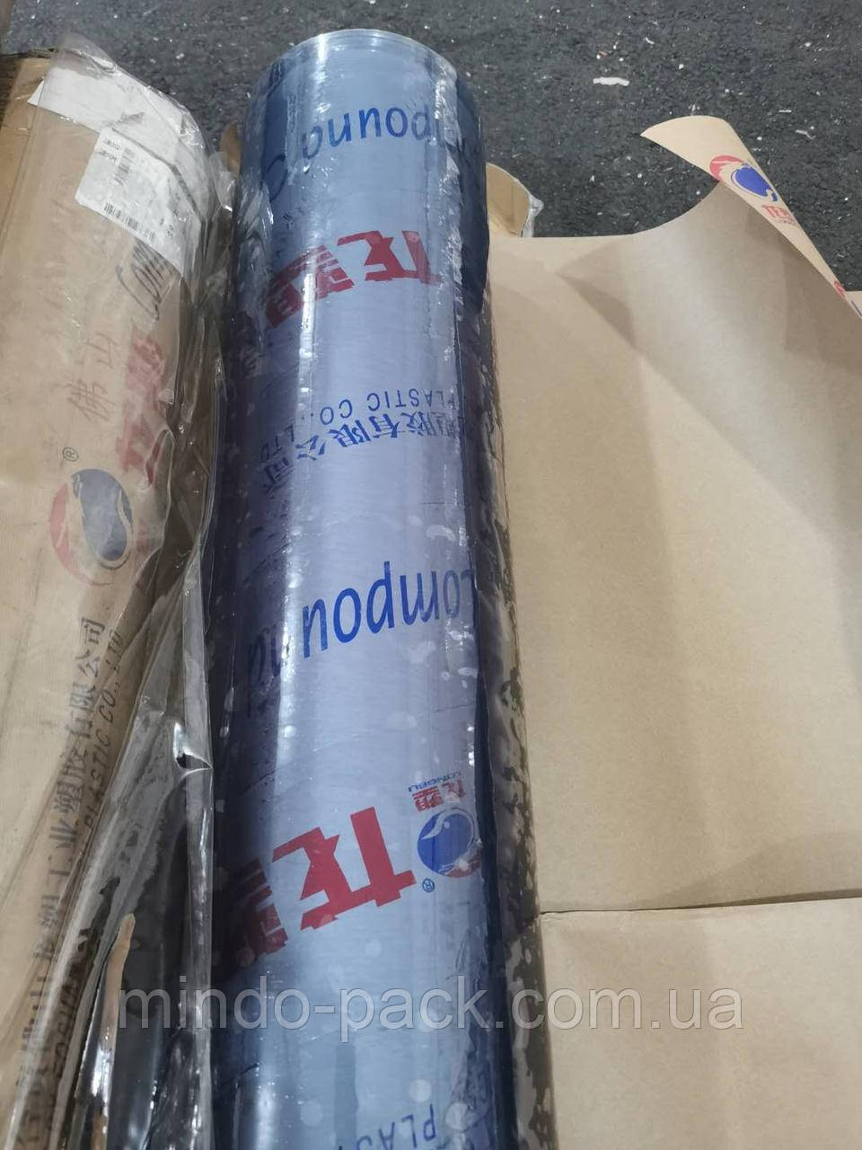Пленка ПВХ 0,23мм под пошив. Рулон. Прозрачный. 1,4м ширина, 134кв.м.