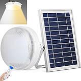 Светодиодный потолочный светильник на солнечной батарее два цвета с пультом дистанционного управления, фото 7