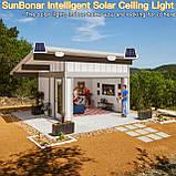 Светодиодный потолочный светильник на солнечной батарее два цвета с пультом дистанционного управления, фото 9