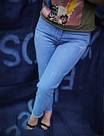 Стильные джинсы женские МОМ с высокой посадкой