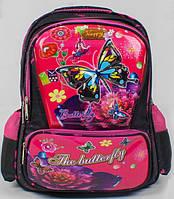 Школьный рюкзак ранец для девочек 1, 2 класс. Детский портфель для школы Бабочка