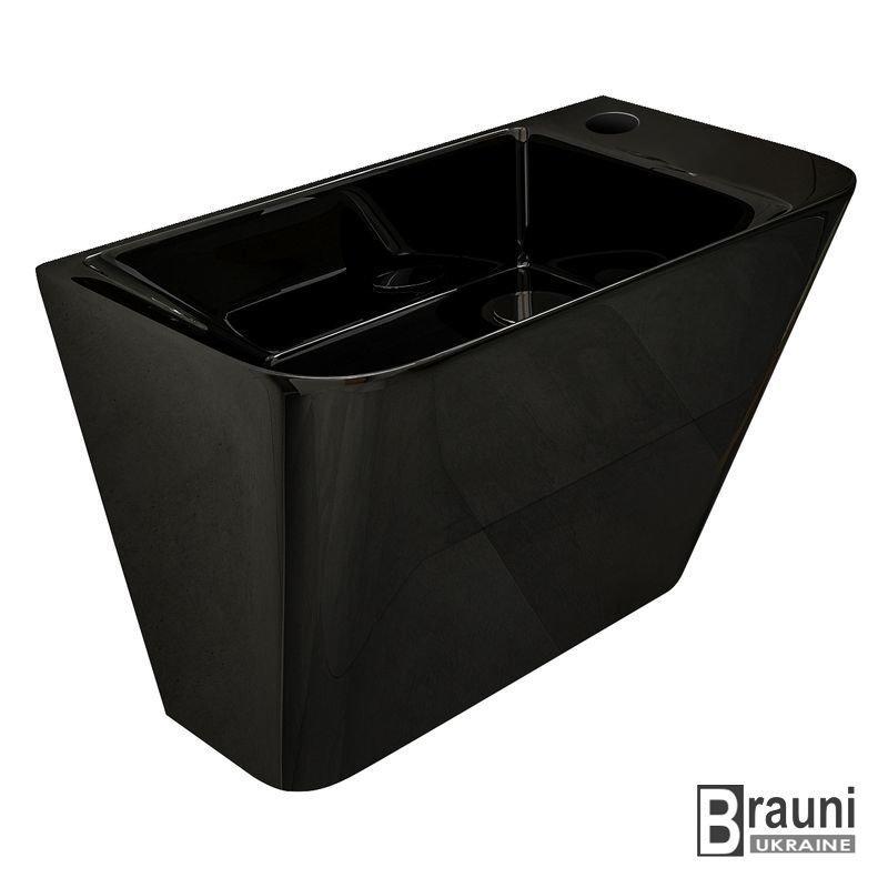 VOLLE Умывальник TEO black 50*28*35 см моноблок подвесной