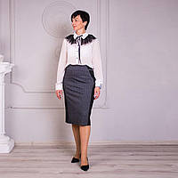 Практичная женская юбка из трикотажа в большом размере