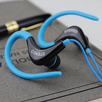 Стерео спортивные наушники-вкладыши 3,5 мм с микрофоном Синий