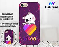 Силиконовый чехол для Apple Iphone 6_6s Лайки Котик (Likee Cat) (4004-1595)