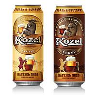 Темный сорт баночного пива Велкопоповицкий Козел