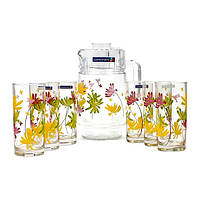Набор питьевой Luminarc CRAZY FLOWERS 7 пр G4621