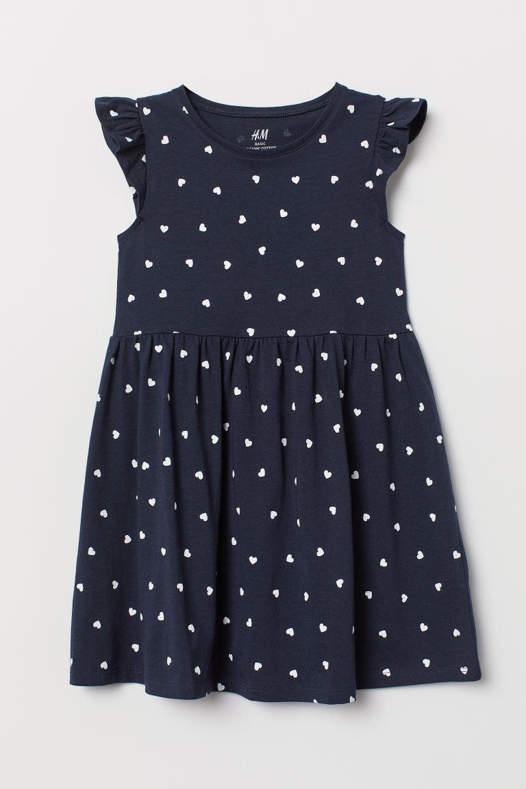 """Платье H&M """"Сердечко"""" для девочек (синее)"""