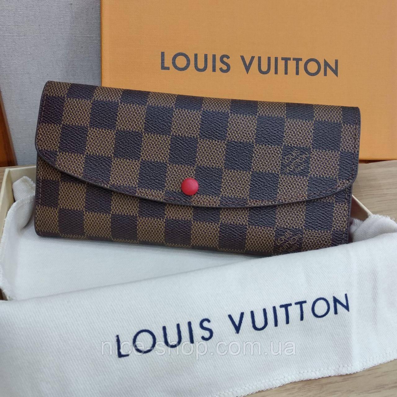 Кошелек Louis Vuitton кожаный на кнопке