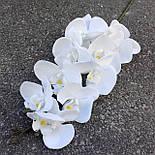 Орхидея ветка фаленопсис белая 105 см Бархат, фото 3