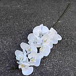 Орхидея ветка фаленопсис белая 105 см Бархат, фото 4