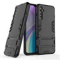 Чехол Hybrid case для Realme XT / X2 бампер с подставкой черный