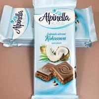 Молочный шоколад с кокосом «Alpinella»: где приобрести вкусный оригинальный шоколад из Польши