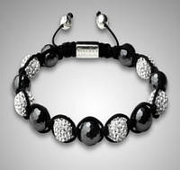 Браслет Shamballa Nialaya Hollywood, гематит, Сваровски