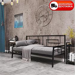 """Односпальне ліжко Квадро 90*200 """"Метал-дизайн"""""""