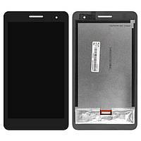 Экран (дисплей) для планшета Huawei T1 (T1-701u) 7.0 3G MediaPad с сенсором (тачскрином) черный Оригинал