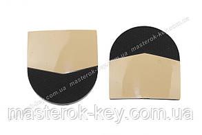 Набойки формованные CASALi DAMA CHIC MIRROR размер 47*42*6мм цвет Орех