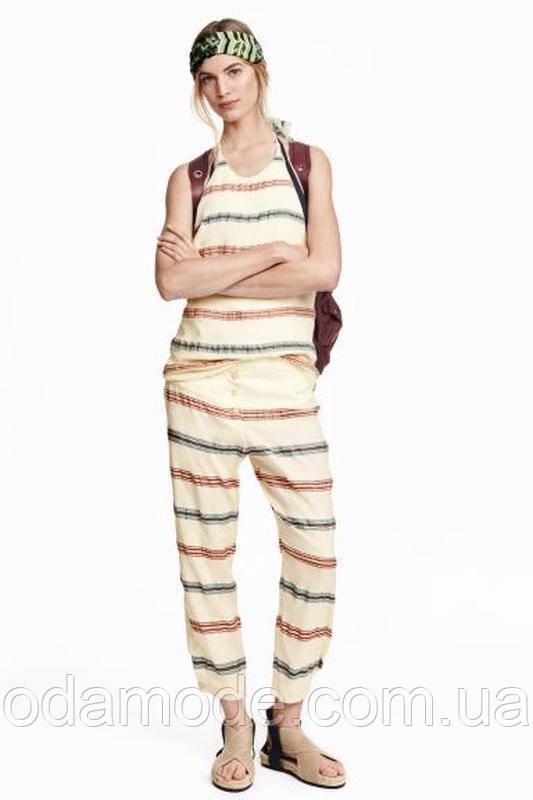 Майка женская H&M белая в полоску