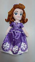 Мягкая кукла София в фиолетовом платье