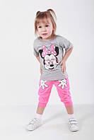 Комплект детский Минни Маус футболка+бриджи кулир