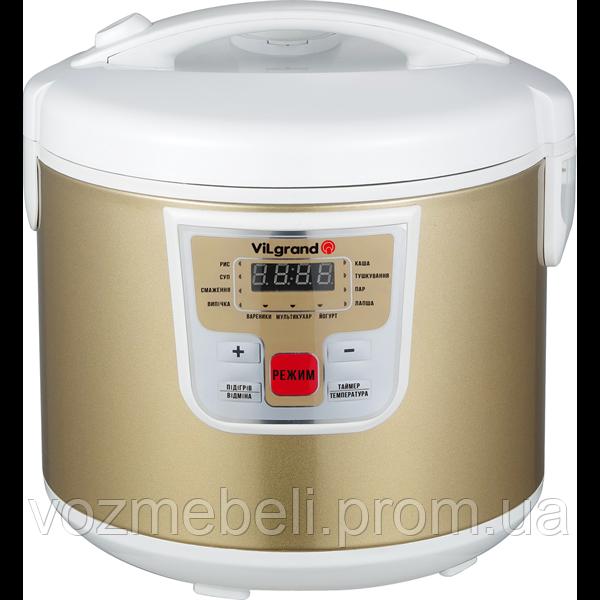 Мультиварка (5 л; 900 Вт; 11 программ; нерж.; LED-дисплей) ViLgrand VMC115_Gold