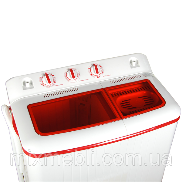 Пральна машина 7.0 кг с центрифугой, помпа ERSTECH EWM579_red