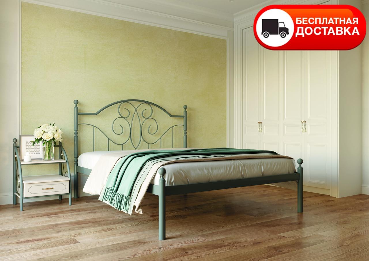 Двоспальне ліжко Офелія 160*200/180*200 «Метал-Дизайн»