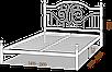 Двоспальне ліжко Офелія 160*200/180*200 «Метал-Дизайн», фото 3