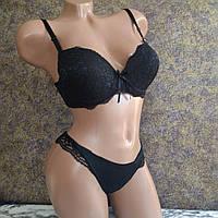Комплект женского нижнего белья размер 38/85 В черный