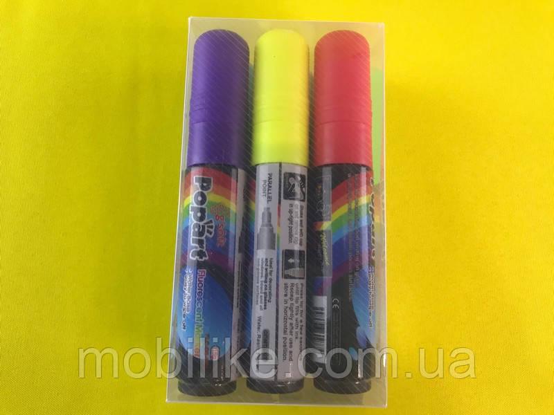 Флуоресцентные маркеры для LED доски POPART 10 мм 6 цветов (1 шт.)