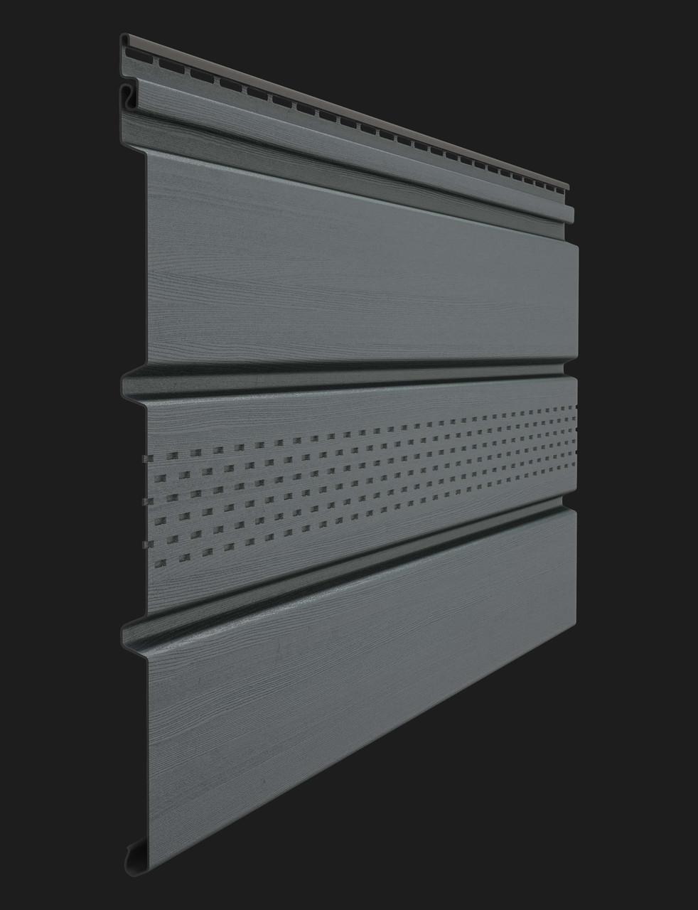 Софит Döcke PREMIUM T4 с перфорацией графит 3050х305