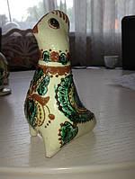 Свистулька глиняна ручної роботи велика (Косівський розпис)