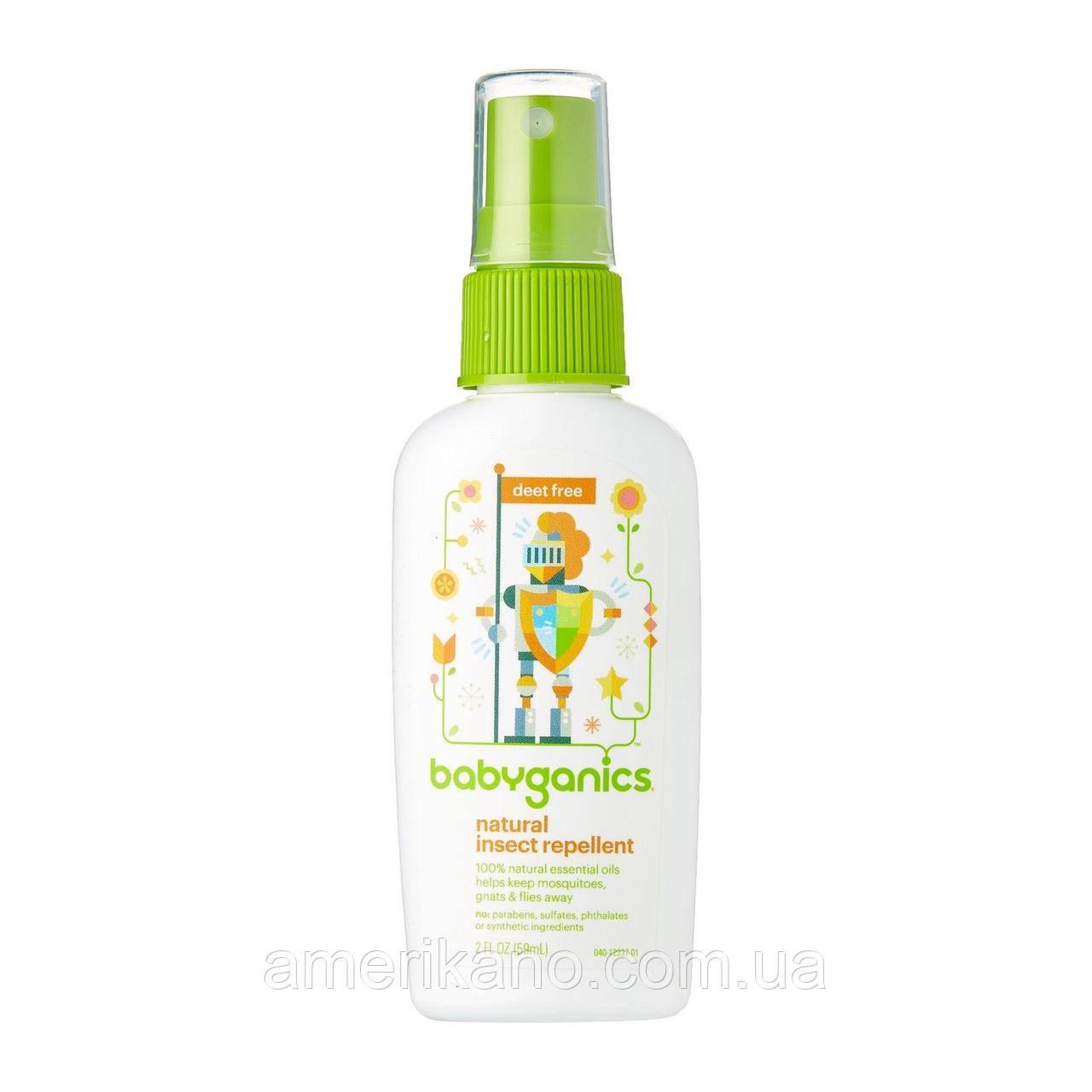 Детский натуральный спрей-репеллент защита от насекомых от BabyGanics от 6 месяцев, 59 мл, США